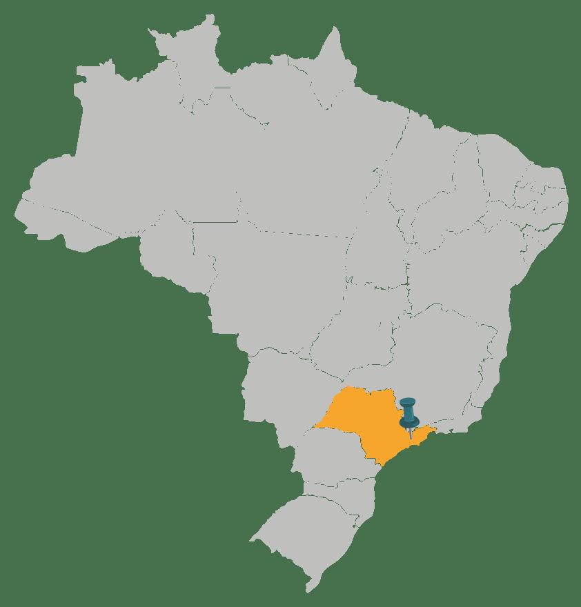 Mapa da região de São José dos Campos, SP